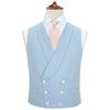 Hudson Blue Basketweave Cotton Silk Waistcoat