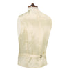 Tan Single breasted lapel wool waistcoat