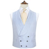 Hudson Blue and White Silk Houndstooth Waistcoat