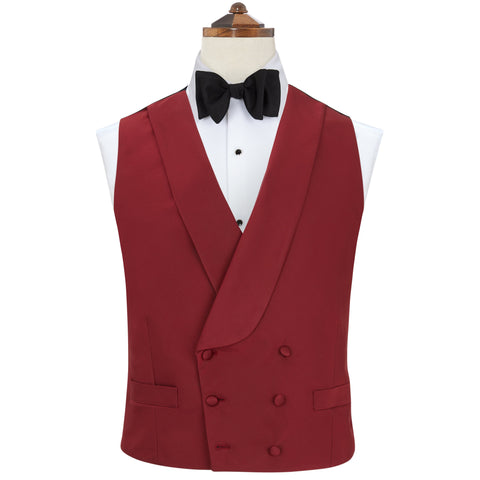 Hudson Berry Grosgrain Silk and Cotton Waistcoat