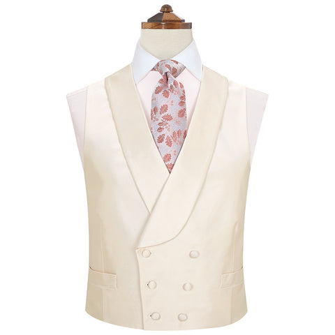 Hudson Ivory Grosgrain Silk and Cotton Waistcoat