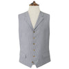 Hadley White and Blue Stripe Waistcoat
