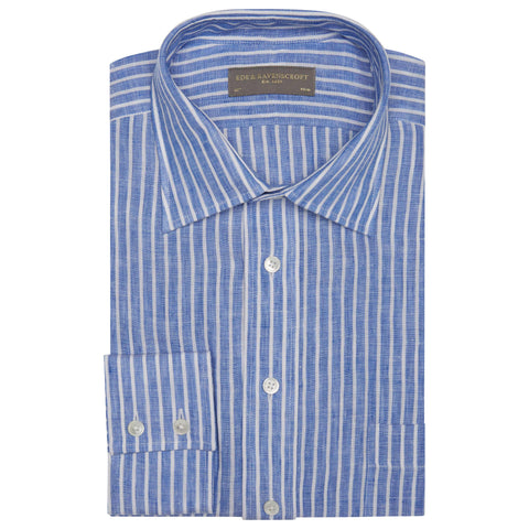 Alderney Blue Stripe Linen Shirt