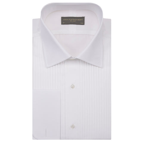 Dempsey White Pleated Dress Shirt