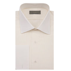 Dempsey Cream Pleated Dress Shirt