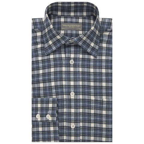 Alderney Blue and Cream Check Shirt