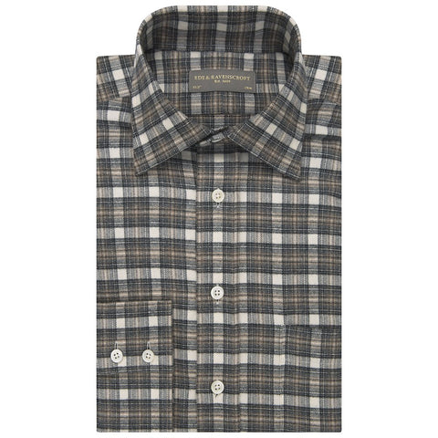 Alderney Brown and Cream Check Shirt