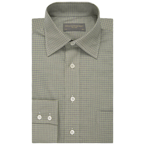 Alderney Green and Cream Check Shirt
