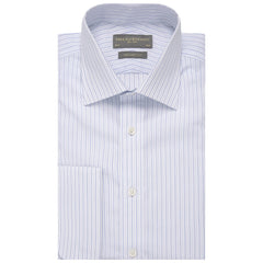 Andrew White and Blue Stripe Shirt