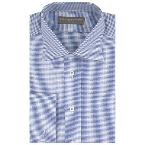 Ainsley Blue and White Houndstooth Shirt