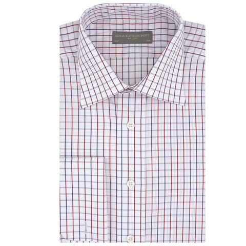 Ainsley Wine Blue and White Check Shirt