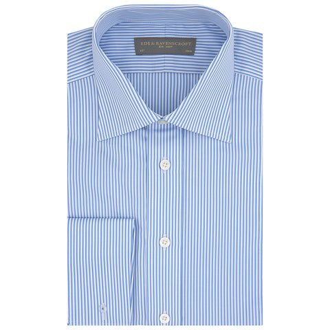 Ainsley Blue and White Engineered Stripe Shirt