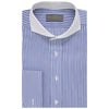 Anson Blue and White Bengal Stripe Shirt