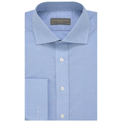 Angus Blue and White Prince of Wales Shirt