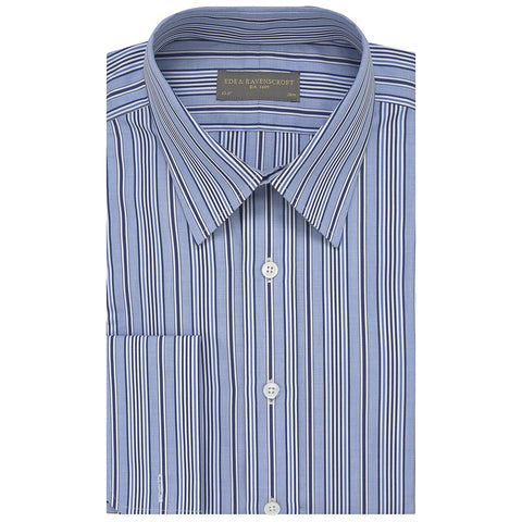 Austen Blue and White Engineered Stripe Shirt