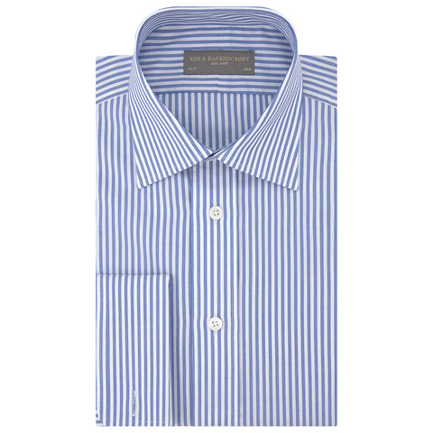 Ainsley Blue and White Bengal Stripe Shirt