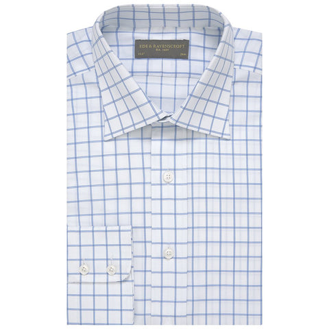 Alistair Blue and White Windowpane Check
