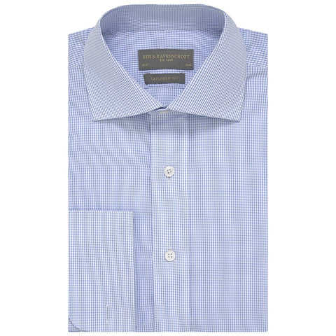 Andrew Blue Micro Check Shirt