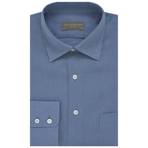 Aragon Blue Cotton Linen Shirt