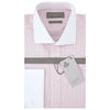 Ashburn Pink and White Stripe Poplin Cotton Shirt