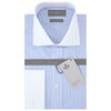 Ashburn Blue and White Stripe Poplin Cotton Shirt