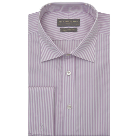 Andrew Lilac and White Bengal Stripe Shirt