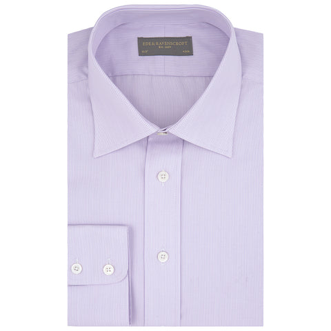 Alistair Lilac Fine Stripe Shirt
