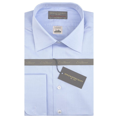 Sylvan Pale Blue Sea Island Cotton Shirt