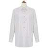Dewitt White Pleated Dress Shirt