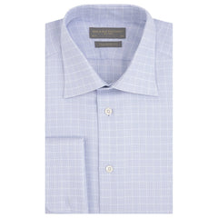 Amon Blue and White Textured Check Shirt