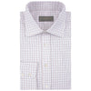 Alistair White and Burgundy Check Twill Shirt