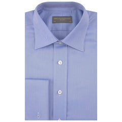 Ainsley Blue and White Herringbone Shirt