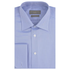 Amon Blue and White Herringbone Shirt