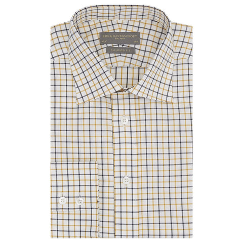 Alex White and Ochre Tattersall Check Shirt