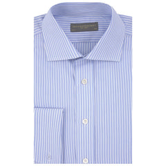Angus Blue and White Textured Stripe Shirt