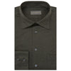 Andre Moss Green Melange Cotton Shirt
