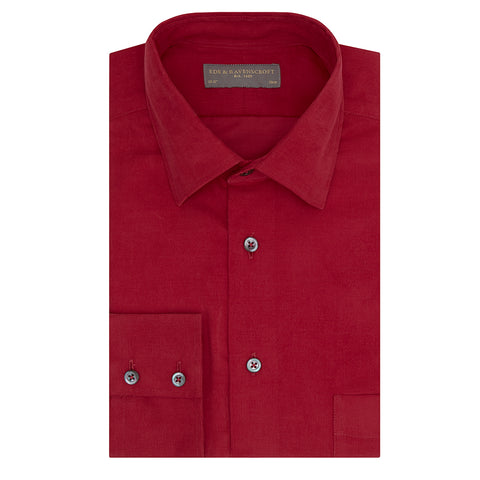 Aragon Red Needle Corduroy Shirt