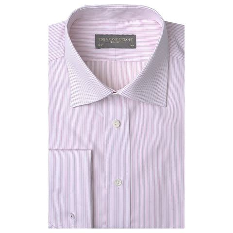 Ainsley Pink and White Textured Stripe Shirt