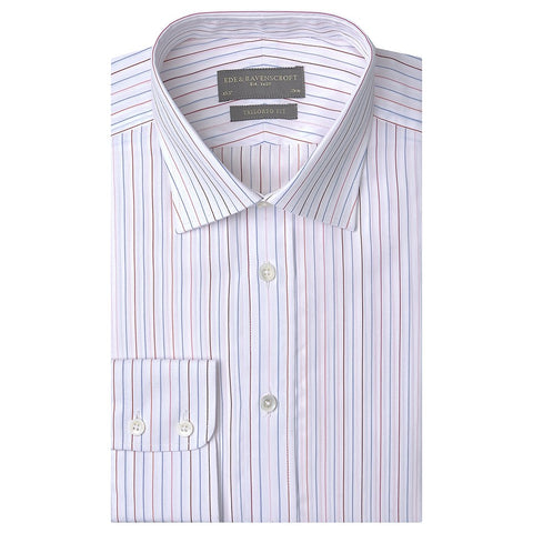 Alex White and Blue Textured Stripe Shirt