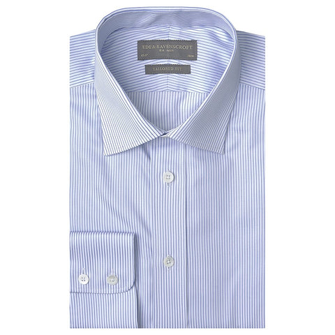 Alex Blue and White Fine Stripe Shirt