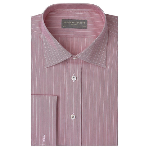 Ainsley Red and White Engineered Stripe Shirt
