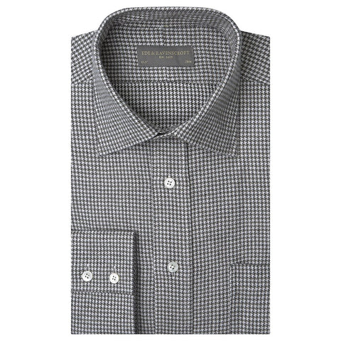 Alderney Green and White Houndstooth Shirt