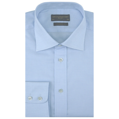 Alex White and Blue Micro Dobby Check Shirt