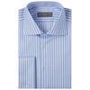 Adrian Blue and White Herringbone Stripe Shirt
