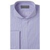 Anson Pink Blue and White Engineered Stripe Shirt