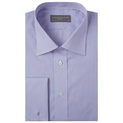 Ainsley Pink Blue and White Engineered Stripe Shirt
