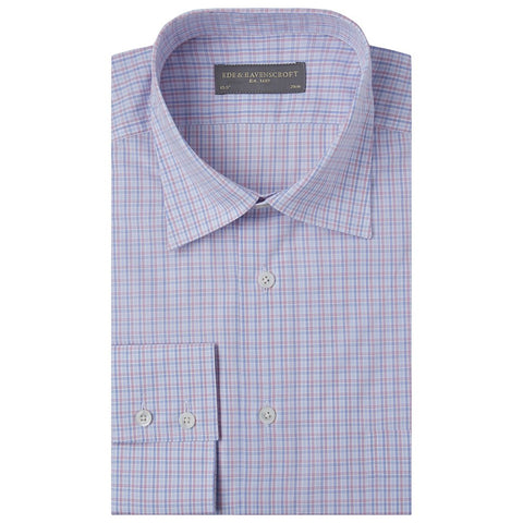Aragon Pink and Blue Check Shirt