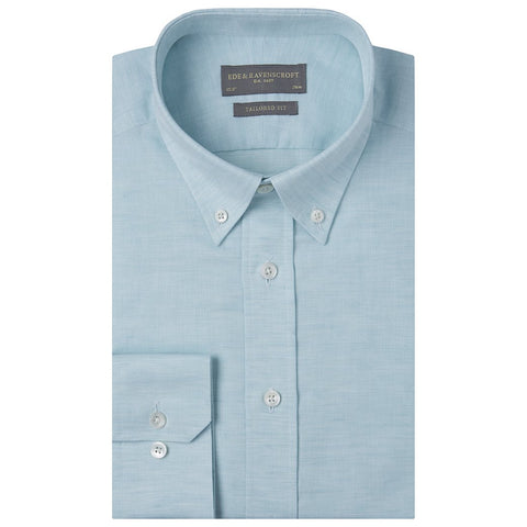 Alvin Mint Cotton and Linen Oxford Shirt