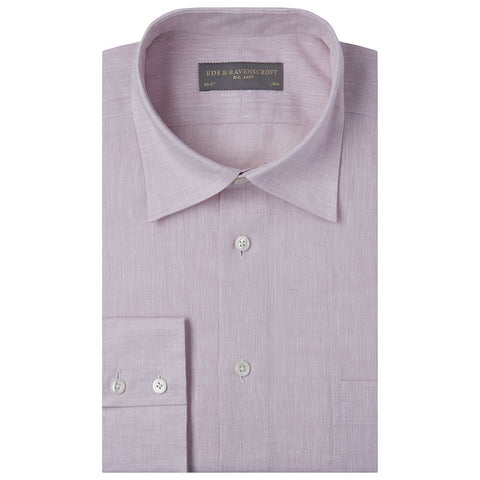 Aragon Pale Pink Plain Linen Shirt