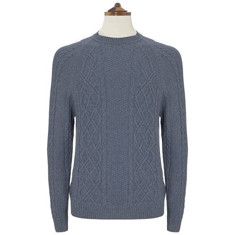 Kinlaw Blue Aran Sweater